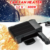 2 in 1 600W 12V Car Electric Heater Fan Dryer Quick Heating Demister Defroster