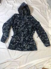 USN US Navy Working Uniform Type I Blue Gore-Tex Parka Jacket Medium Long