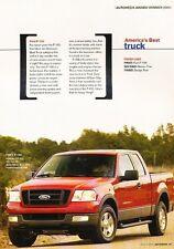 2004 Ford F-150 Truck Original Car Review Print Article J561