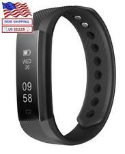 Fitness Activity Tracker Sports Bracelet Wristband Pedometer Smart Heart Rate