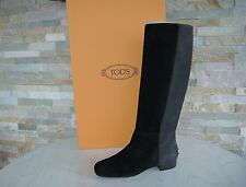 Tods Tod´s Gr 37 Stiefel Boots Schuhe Shoes Suede schwarz + grau neu UVP 620 €