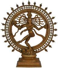 "JAI Shiva Nataraja King Dancing God Statue 22.2"" Bronze Figure Hindu Art 14.4 KG"