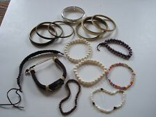 X Bangles And Bracelets Vintage Job Lot Of 15