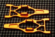 Traxxas 2.5 3.3 E T-Maxx 4 Orange Billet Aluminum Bottom A-Arms W/ Hinge Pin Set