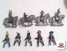 Vintage Lot of 4 Horses and 9 Knights..................(C19B1)