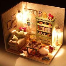 Carino Fai Da Te Handcraft in miniatura casa delle bambole-Casa delle Bambole in Legno e Luci-Veloce Post