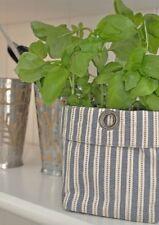 Artefina Blumentasche weiß/blau Aufbewahrung Tasche Korb skandinavisch Küche