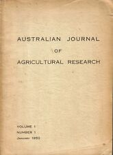 AUSTRALIAN Australian Journal of Agricultural Research : Volume 1, Number 1 - Ja