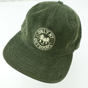 Only NY Outdoors Corduroy Green Hat Ball Cap Adjustable Baseball Hat