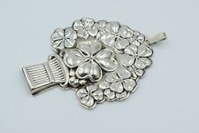 Vintage Reed And Barton Sterling Silver 4 Leaf Clover Good Luck Whistle Pendant