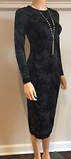 COERCION London Gray Black Long Sweater DRESS Bodycon SIZE XS