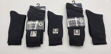 9 Pairs French Toast School Uniform Boys Black Socks Size 5-6 1/2 Sty#B50