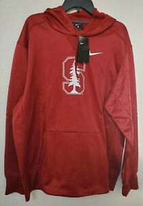Nike Stanford Cardinal Therma Fleece Red Football Hoodie NWT Mens Size XL