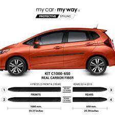 (Fits) Honda Fit 2014-2019 Real Carbon Fiber Body Side Molding Cover Trim Door P