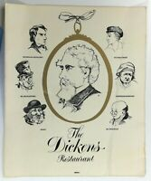Original Large Vintage Mystery Menu DICKENS RESTAURANT ? United Kingdom ?