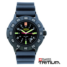 CampCo UZI-001-R Black Face Glowing UZI Tritium Protector Watch Rubber Strap