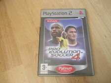 JEU VIDEO SONY PLAYSTATION 2 PS2 PRO EVOLUTION SOCCER 4 +  boite + notice