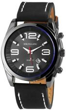 Men's Watch Anthracite White Black Date Analogue Quartz Metal G-100000300122695