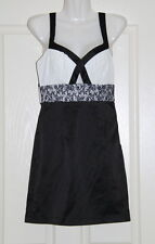 Womens size 6-8 black and white mini dress made by VALLEY GIRL