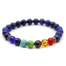 Chakra Bracelet DEEP PURPLE by ZILA COMPANY 7 Gemstone Crystal Reiki Healing