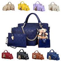 Women Handbag Lady Leather 4Pcs/Set Messenger Shoulder Bags Tote Satchel Purse
