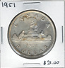 Canada 1951 Silver Dollar $1