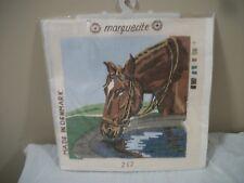 Marguerite Vintage Needlepoint Horse Kit #217 NOS  Made in Denmark