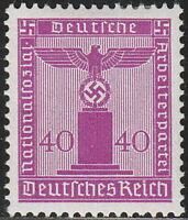 Stamp Germany Official Mi 165 Sc S22 1942 WWII War Era War Era Franchise MH