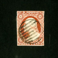 US Stamps # 10A F-VF Fresh Color Neat Cancel Catalog Value $140.00