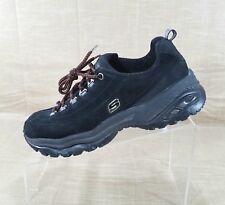 ae786c6e858f80 Skechers Sport Premium Nubuck Leather Sneakers Womens Size 6.5 Black 1718