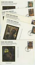 US FDC #UX285-UX289 Classic Movie Monsters Postcards Colorano Silk Color Cachets