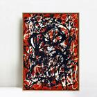 """28""""x40"""" Framed Giclee Print Free Form by Jackson Pollock Abstract Wall Art Decor"""