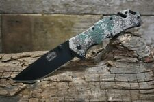 Master USA Spring Assisted Tactical Rescue Camo Knife Belt Cutter Glass Breaker