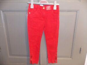 Jean pantalon fille 3ans, 4ans, 5ans, 6ans noir rouge rose bleu neuf