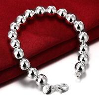 925 Sterling Women's Silver Beaded Bead Bracelet Bangle w Gift Pkg D24