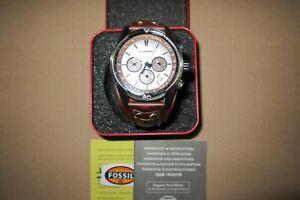 Fossil CH2565 Herren Chronograph Armbanduhr Leder Armband braun Uhr mit OVP
