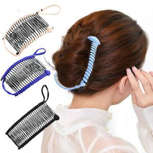 Women Magic Banana Hair Comb Pin Clip Double Stretchy Hair Accessories Barrettes