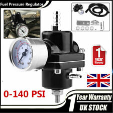 Universal Adjustable Fuel Pressure Regulator Kit 0-140psi With Bracket Spanner