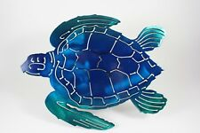 Turtle trailer hitch cover blue and green