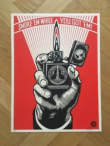 Shepard Fairey Obey Smoke em while you got em Screen Print