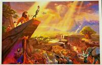 Lion King Thomas Kinkade Simba Mufasa Rafiki Zazu Disney Print 11 x 17 Poster