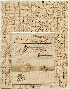 1829 FRANCE to GB ENGLISH LONG LETTER to MRS SWINFEN GRAYS INN REDIRECTED WALES