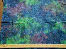 BATIK Premium Cotton Fabric Quilt Craft ASTRAL  Blue Green Purple DOTS