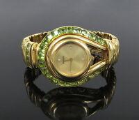 bde715f91be Rare Paolo Gucci 12.5ct Peridot Gemstone   Diamond 18K Yellow Gold Lady s  Watch