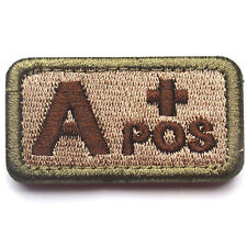 USA Blood Type A+ Positive USA Tactical Army 3D Embroidery Badge Patch