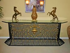 Large Vintage Designer Custom Hand Made Iron Console Table Spanish Style
