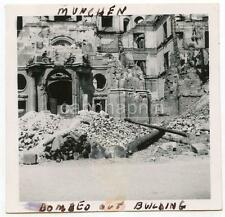 WWII Bomb Damage Bombed Building Munchen MUNICH Germany Vintage 1950s Photo