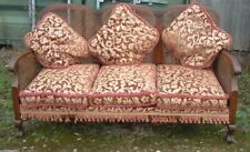 Antique French BERGERE THREE SEAT   camel back Sofa