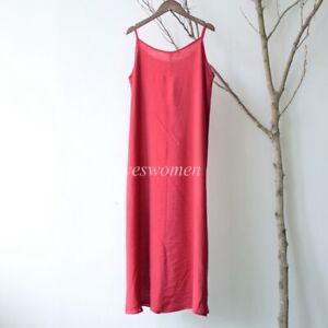 Women Cami Full Slip Dress Cotton Silk Camisole Petticoat Nightie Chemise 90cm