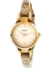 Fossil Women's Georgia ES3262 Rose-Gold Leather Japanese Quartz Fashion Watch